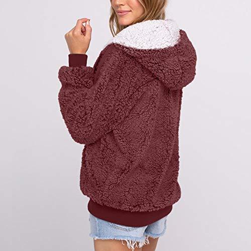 Manteaux Pockets Hooded Size Coat 2019 Hiver Casual Vin Femmes Dragon868 Plus Automne 5qOvw