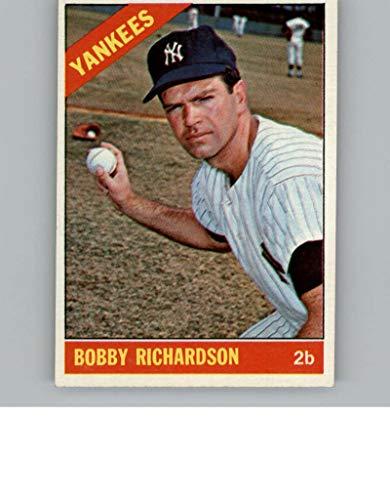 Baseball MLB 1966 Topps #490 Bobby Richardson EX-MT+ Yankees (Baseball Bobby Richardson)