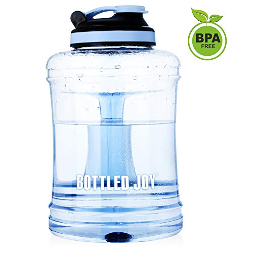 Large Water Bottle,Big Capacity Water Bottle with handle,Reusable Sports Water Jug,Leakproof Gym Sports Water Bottle,Large Drinking Water Jug Hydrate Container Lightweight with Flip Cap