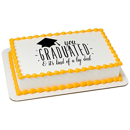 Big Deal Grad Personalizable Edible Frosting Image 1/4 sheet Cake (Graduation Icing)