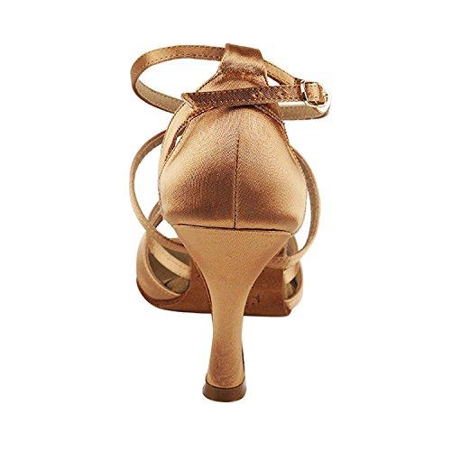 """Gold Taube Schuhe 50 Shades Of Tan Tanzkleid Schuhe Collection-III, Komfort Abend Hochzeit Pumps: Ballroom Schuhe für Latein, Tango, Salsa, Swing, Kunst von Party Party (2,5 """", 3"""", 3,5 """"Heels) S1002 Tan Satin"""