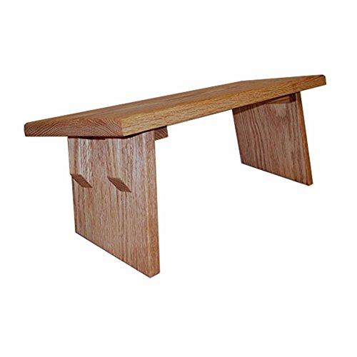 Meditation Bench ~ Seiza Kneeling Stool ~ RED OAK by EarthBench (Regular (Best Meditation Benchs)