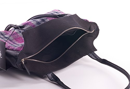 Tweed Días Comprobar Bolsa Ladies Harris De Pink wxYA1qnC
