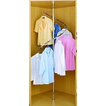 Rev A Shelf Spiral Clothes Rack Closet Hanging, Chrome