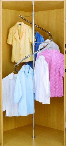 Rev-A-Shelf Spiral Clothes Rack Closet Hanging, Chrome by Rev-A-Shelf