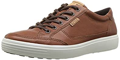 ECCO Men's Soft 7 Sneaker, Cognac, 39 M EU (5-5.5 US)