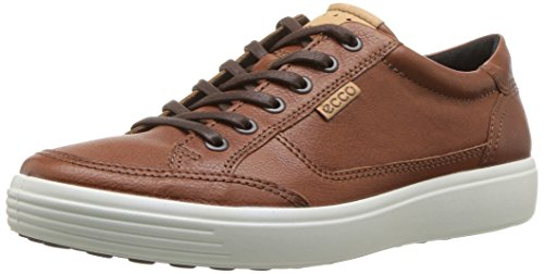 ECCO Men's Soft 7 Sneaker, Cognac, 44 M EU (10-10.5 US)