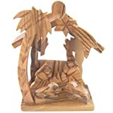 Olive Wood Nativity Scene with Angels
