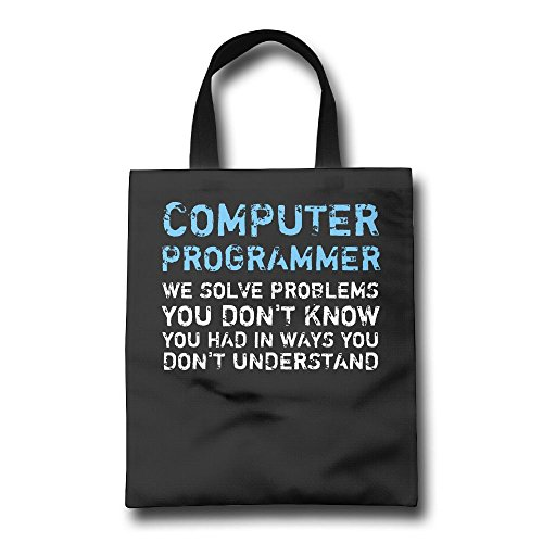 ZhiqianDF Computer Programmer Funny Reusable Shopping Grocery Bag OfficeShopping Bags