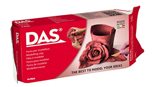 DAS Air-Hardening Modeling Clay, 2.2 Pound Block, Terra Cotta Color (387600) - Terra Cotta Sculpture