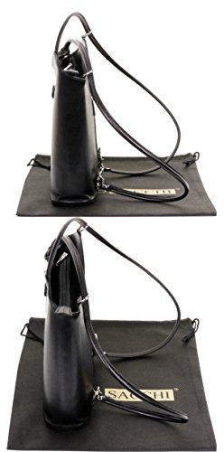protecteur dos fabriqué la en de Noir à à sac italien marque main sac nbsp;Comprend un main bandoulière ou Sac à de Grand sac grandes moyennes et cuir à nbsp;Versions rangement FTP8nnO