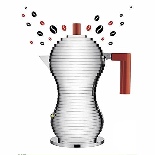 Alessi Pulcina Espresso Coffee Maker, 6 Cup Induction Model by Michele De Lucchi by Alessi (Image #1)
