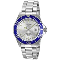 Invicta Men's 14123 Pro Diver Silver Dial Stainless Steel Watch