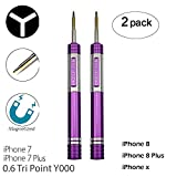 2 Pack Screwdrivers for iPhone 7 Plus Y000 0.6mm
