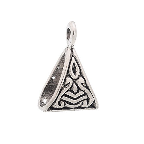 Souarts Bélières Perles triangle pr Bracelet Charms 50pcs