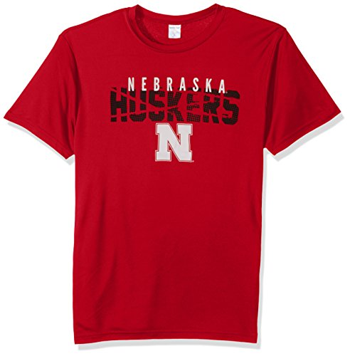 Ncaa Nebraska Cornhuskers Golf Tee (NCAA Nebraska Cornhuskers Youth Boys Destroyed Short sleeve Polyester Competitor T-Shirt, Youth Large,Red)