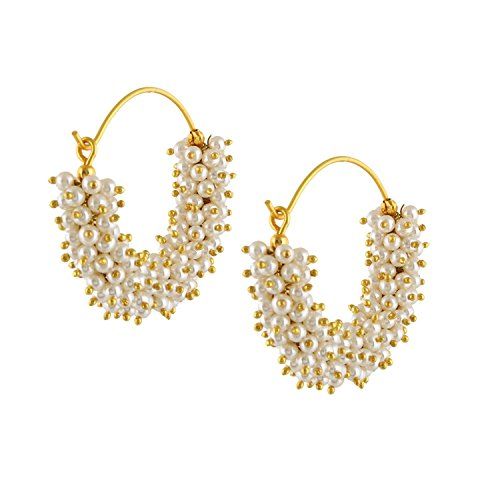 Royal Bling Bollywood Stylish Traditional Indian Jewelry Hoop Earrings for Women ()