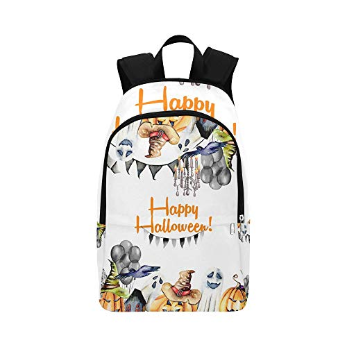 JXCSGBD Card Template Frame Halloween Objects Casual Daypack Travel Bag College School Backpack for Mens and Women -