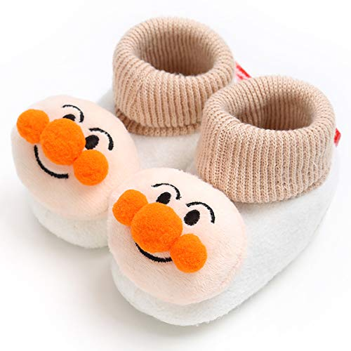(LIVEBOX Newborn Baby Booties, Cute Little Face Pattern Cotton Warm Winter Infant Prewalker Toddler Snow Boots Crib Shoes for Girls Boys)