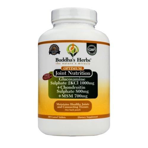 Herbes optimale de glucosamine / chondroïtine / MSM Complex Bouddha