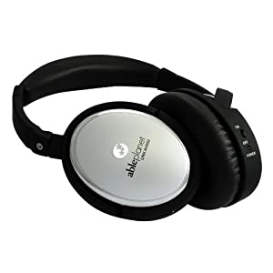 Able Planet True Fidelity Active Noise Canceling Headphones (Silver Chrome)