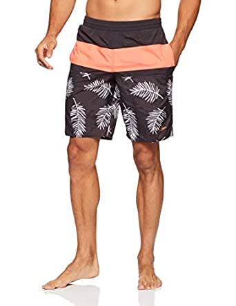 Speedo Men's Multi Split Watershort, Carbon/Siren Red, S