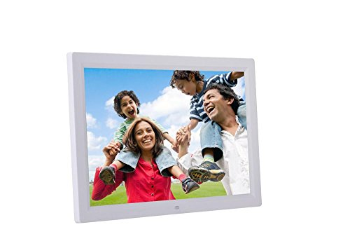 Aurorax 17-Inch Digital Photo Frame High Resolution Screen Digital Photo Frame with Motion Sensor, Front Touch Screen Button (White) by Aurorax