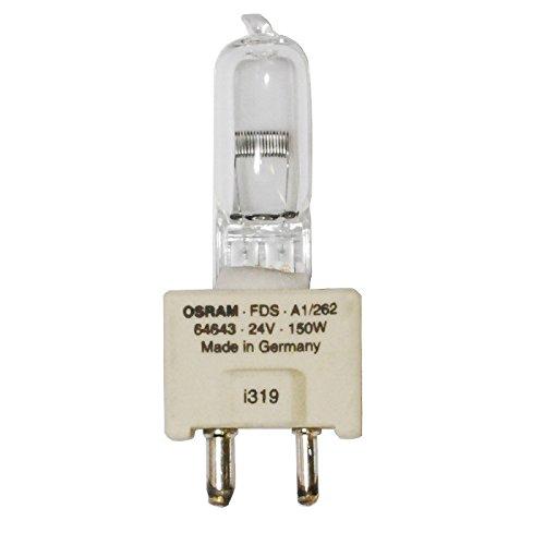 SYLVANIA 54277-FDS/DZE - Projector Lamp - T5 - 150 Watt Light Bulb - 24 Volt - GY9.5 Base - 5000