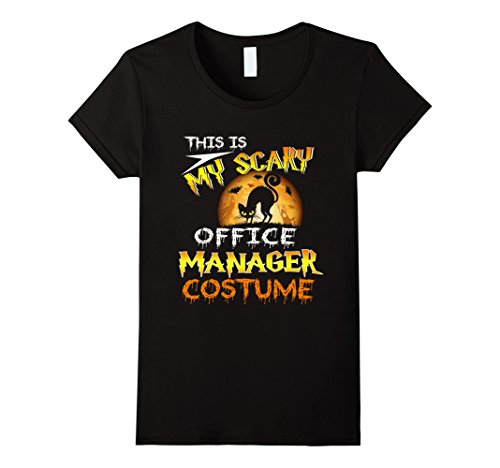 Womens My Scary Office manager Costume Shirt Halloween Moon XL (Office Lady Costume)
