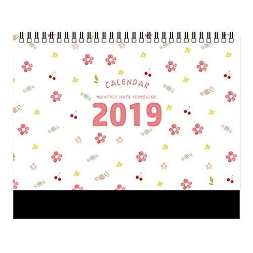 2019 Calendarios de Mesa Escenario de niña Cielo Estrellado Plan semanal por Semana Lista de tareas Calendario de Escritorio...