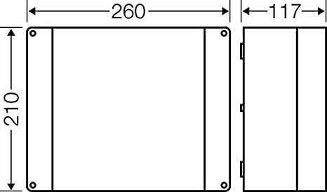 Geh/äuse f/ür Montage auf der Wand//Decke 4012591111320 Hensel Kabelabzweigkasten KC 9355 3ph,5pol 2,5-16qmm Dose