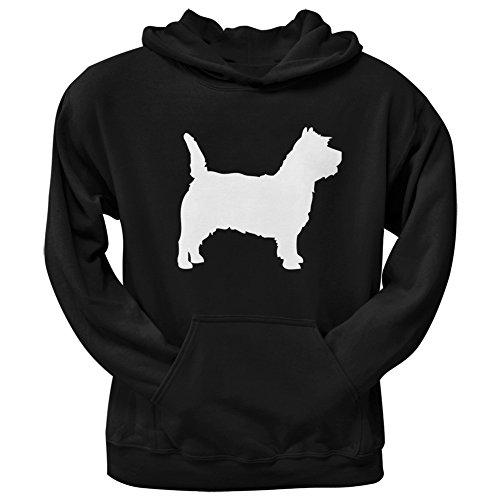 Cairn Terrier Silhouette Black Adult Hoodie - ()