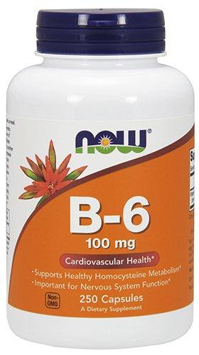 NOW Vitamin B-6 100 mg,250 Capsules (Nutrition Now B6 Vitamins)