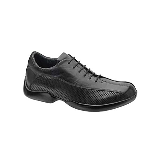 Aetrex Men's G680 Perf Design Oxford,Black,11 XW (Aetrex Black Oxford)