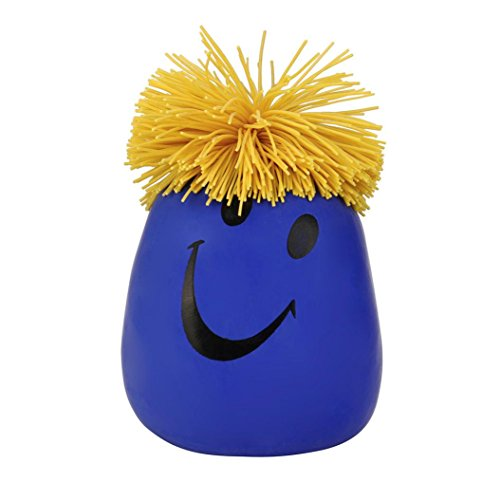 - Decompression Toys,Jinjiu Super Stretchy Moody Smile Face Stress Relief Time Killing Squeeze Toy (Blue)