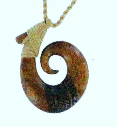Koa Wood Necklace - Circle of Life Hook