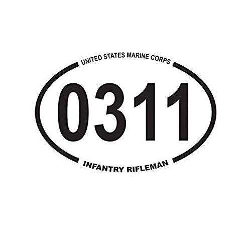 Ross Stores Pack of 3 - United States Marine Corps MOS 0311 Infantry Rifleman Oval USMC Semper - Sticker Graphic - Auto, Wall, Laptop, Cell, Truck Sticker for Windows, Cars, Trucks