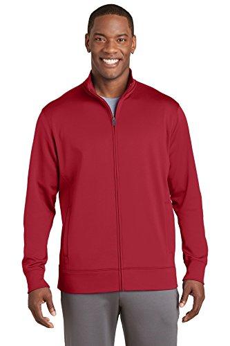 Sport-Tek Mens Sport-Wick Fleece Full-Zip Jacket (ST241) -DEEP RED -XL