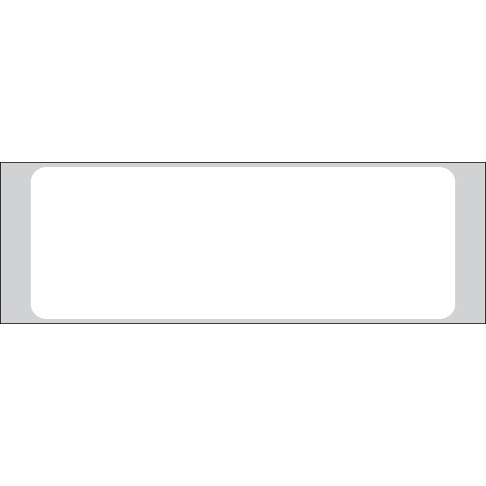 PDC Healthcare ADFR-11432 Paper General Purpose Admission Label, Smudgeproof Flexo/Removable, 3.5'' Width x 1.25'' Length, 4'' Carrier Width, 1'' Core Size, White (Roll of 1000)