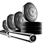 Cheap Deadlift Package Featuring The XMark Voodoo Commercial Olympic Bar, Hard Chrome with Black Manganese Phosphate Shaft, 185,000 PSI Plus 320 lbs. of XMark Olympic Bumper Plates