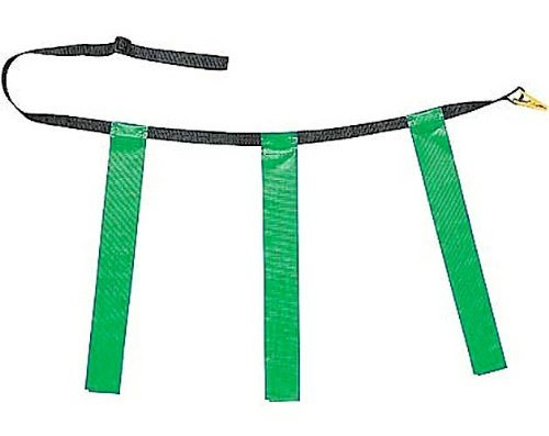 Martin Flag Belt - New Martin Dozen (12) Flag Football Quick Release Buckle Web Belts with 3 Flags (Green, Adult)