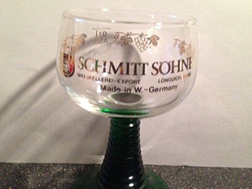 Schmitt Sohne W.germany Cordial or Liqueur Glass 4.5 Inches Tall ()