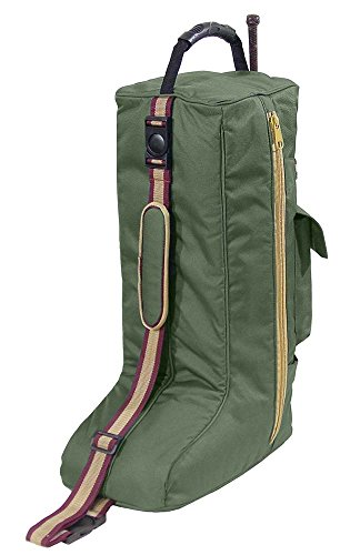 English Saddle Carry Bag (Derby Originals Padded 3 Layers English Tall Boots Carry Bags, Hunter Green)