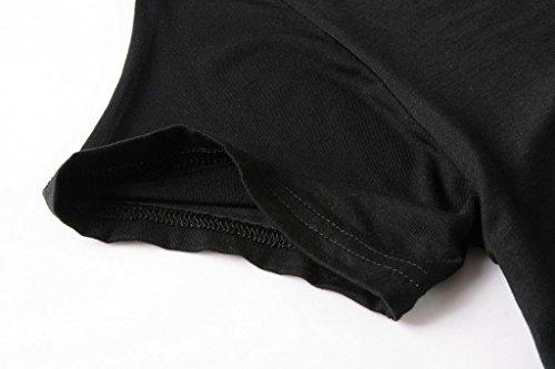 d6a5a77b6c7 LARACE Women Short Sleeves Flare Tunic Tops for Leggings Flowy Shirt (3X,  Black)