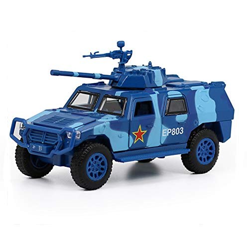 - CORPER TOYS Military Toys Truck Army Fighter Jeep Tank Armored Off Road Vehicle Friction Powered Toy Car with Lights and Sounds (Blue)