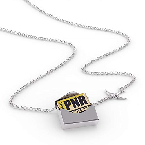 - NEONBLOND Locket Necklace Airportcode PNR Pointe Noire in a Silver Envelope
