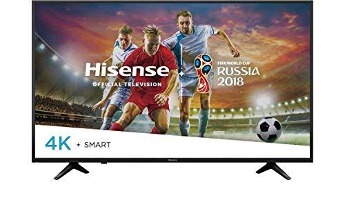 Hisense Smart TV 55', Televisor Ultra HD 4K, HDR, 4 x HDMI, 3 x USB 3.0, Color Negro con Aplicaciones como Netflix, Youtube,...