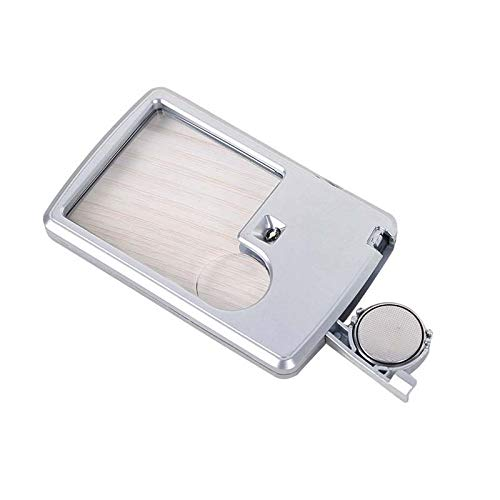 Handheld Magnifier 1 LED Light Illuminated 3X Super High Clarity Lens Portable Card Loupe Electronic Repair Reading Books by Benfa