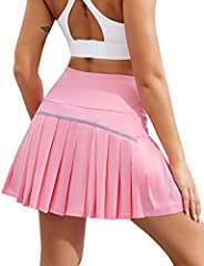 COOrun Sport Skirt Shorts for Women Pleated Tennis Skirts Athletic Golf Skorts Running Skirts with Pockets Sho