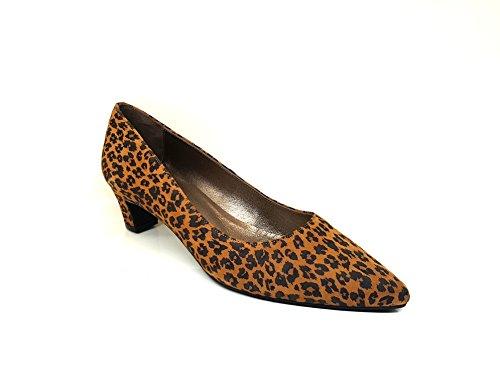 DAILALEO Gennia Mujer de Talla Grabado JM Salones bajo Piel Ante con para 33 Tacon Leopardo 4ZdxdrwqY